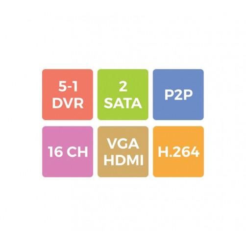 ZEB-4F1DA2H1 -  4 Channel XVR