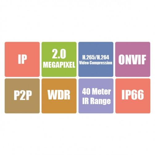 ZEB-IP2MB4L40M-S - IP Bullet