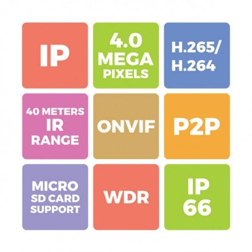 ZEB-IP4MB4L40MP-TF -  IP Bullet