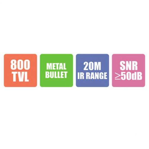 ZEB-AN800MB24L20M (White) - Analog Bullet